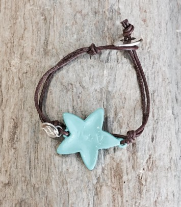 "Leather bracelet ""TURQUOISE NEW GIRU"""
