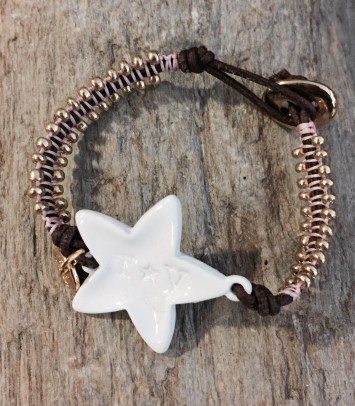 "Leather bracelet ""NEW GIRU STAR"""