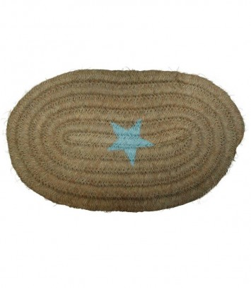 Big doormat star turquoise