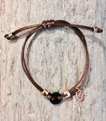 "Bracelet ""BROWN SINGLE ROUNDJEWEL"""