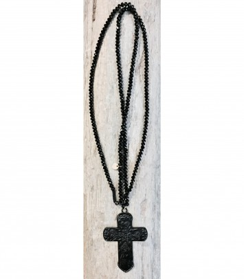 "Necklace ""BLACK CROSS"""