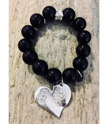 """Onix bracelet """"HEART SILVER"""""""