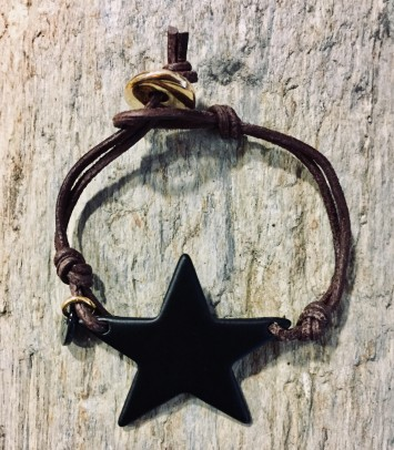 "Leather bracelet ""BLACK GIRU"""