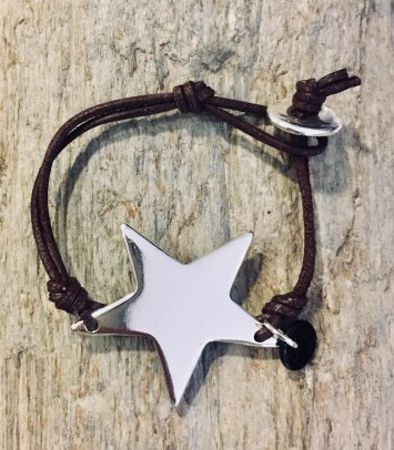 "Leather bracelet ""SILVER GIRU"""