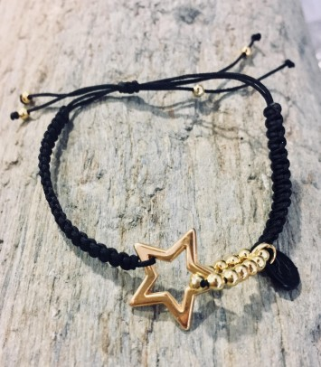 "Bracelet ""STAR PROFILED IN GOLD"""