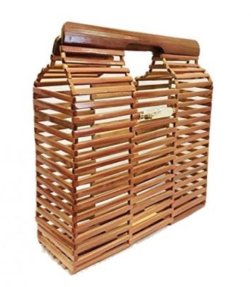 "Bolso de bambú ""PANJANG Brown"""