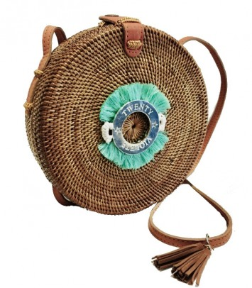Wicker bag TURQUOISE CROWN SAKUBULAT