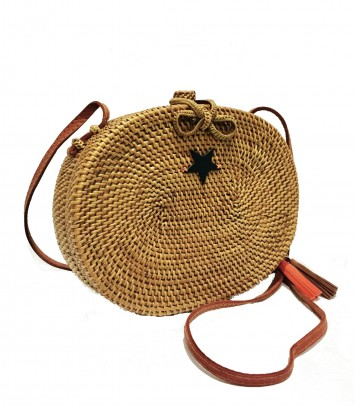 "Wicker bag ""OVAL SAKU """