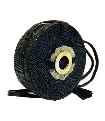 Black Wicker bag CROWN SAKUBULAT