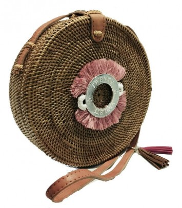 Bolso mimbre SAKUBULAT CROWN ROSA