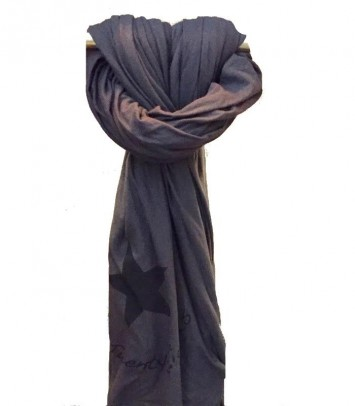 TWENTY MAXI FOULARD : Gray/Black