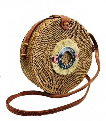 Wicker bag SAKUBULAT CROWN BEIGE