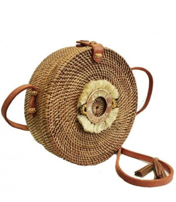 Wicker bag BEIGE CROWN SAKUBULAT