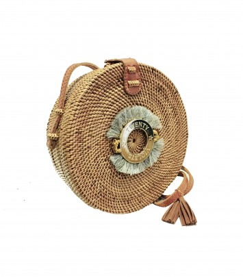 Wicker bag SAKUBULAT GREY CROWN