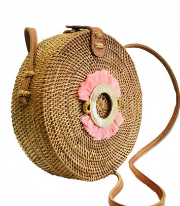 Wicker bag SAKU BULAT CROWN 'FLUOR'