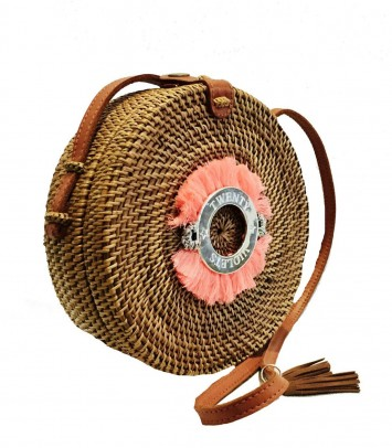 "Wicker bag SAKU BULAT CROWN ""FLUOR"""