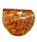 Bolso de bambú ACRILYC BULUH ANIMAL PRINT