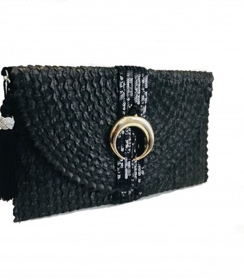 "CLUTCH/BOLSO ""MOON"" PLATA"