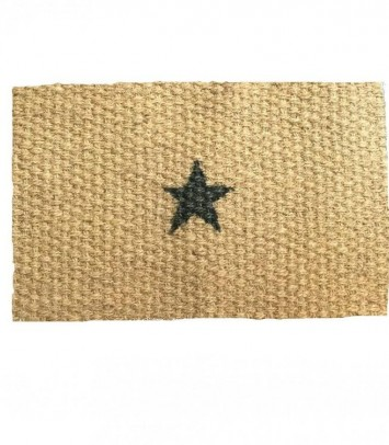 Doormat black star