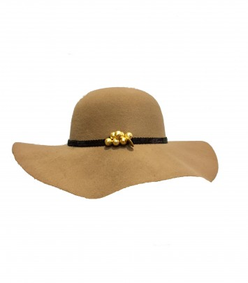 "Pamela/hat ""BROWN LUNA"""
