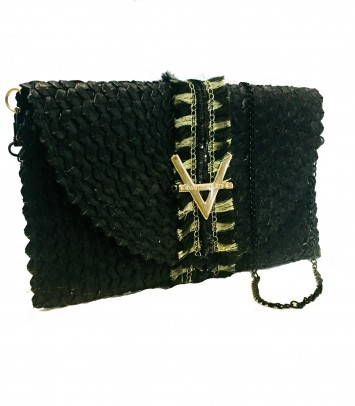 "Clutch/Rattan bag ""SLANGE"""