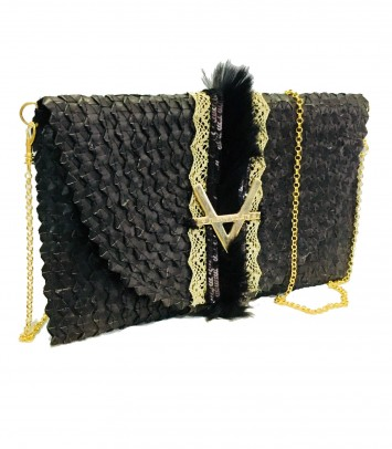 "Clutch/Rattan bag ""STRAUSS"""