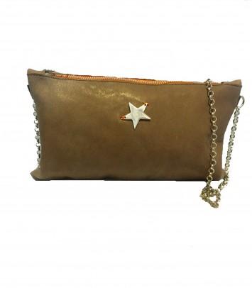 "Clutch/Bolso de piel ""CARLOTTA STAR"""