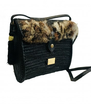 "Wicker bag ""ALEXIA"""