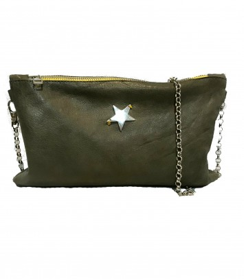 "Leather Clutch/Bag ""CARLOTTA STAR"""