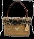 "Rattan bag ""AMELIE LEOPARD"""