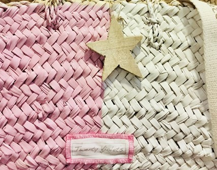 Fotadera Pink/White