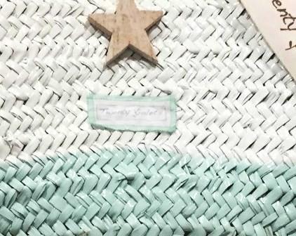 Fotadera Turquoise/White