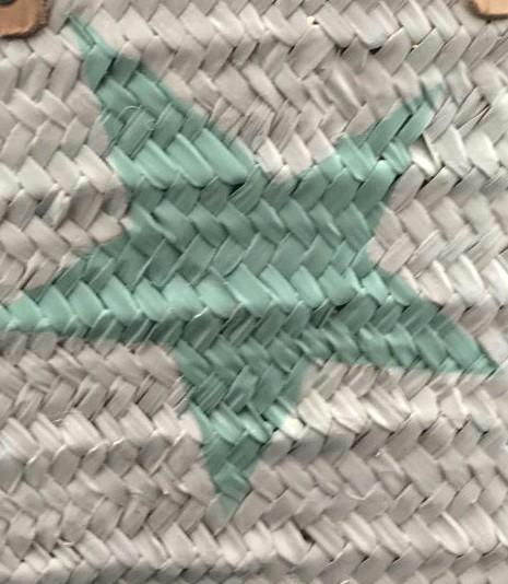 Blanco/Estrella Turquesa